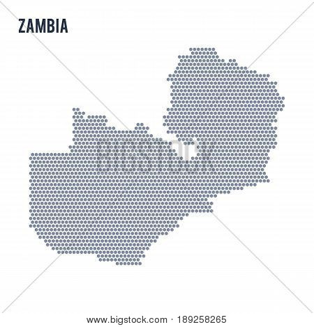 Vector Hexagon Map Of Zambia On A White Background
