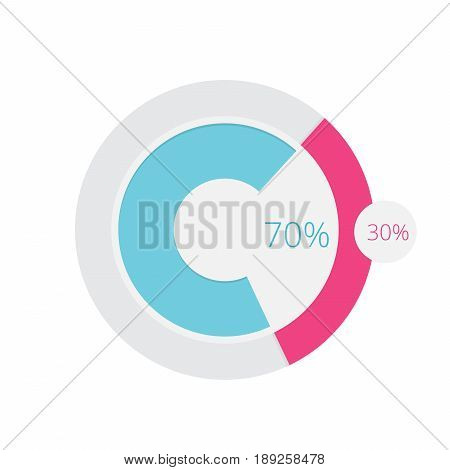 Diagram Chart Pie Doughnut   set of vector diagram illustration use for presentation, business, marketing and much more.The set can be used for several purposes like: websites, print templates, presentation templates, and promotional materials.