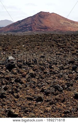 Volcanic Stone In Los Volcanes Lanzarote   Rock  Sky  Hill And Summer