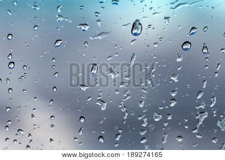 Water drops on the glass