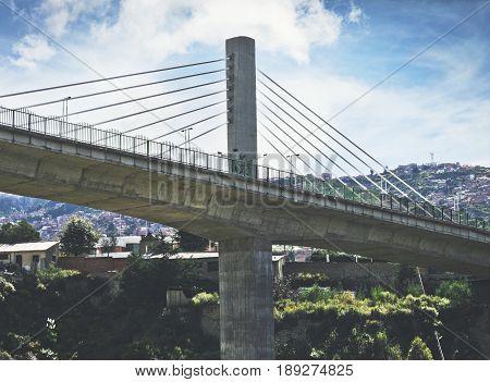 An impressive bridge in La Paz, Bolivia
