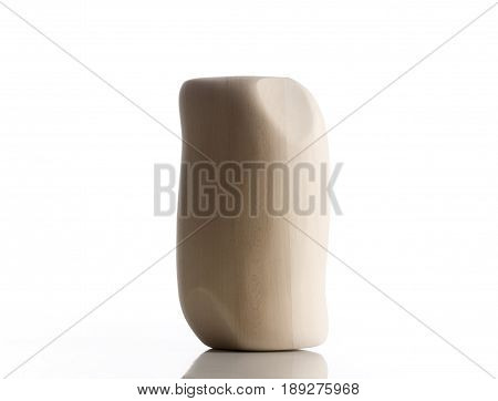 Wooden Mannequin Head for Wigmaking on White