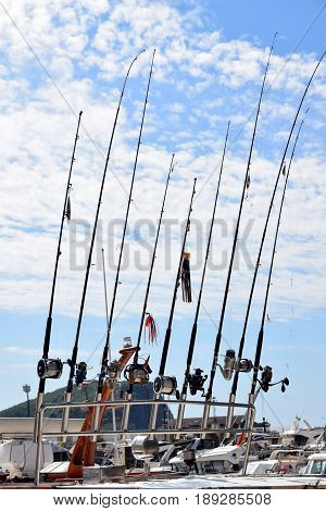 fishing gear on board the fishing boat