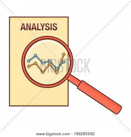 analysis diagram magnifier, line art - vector eps 10