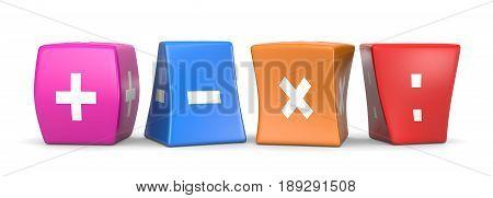 Math Operators Funny Cubes