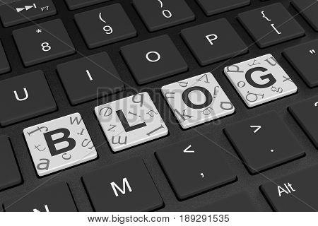 Computer Keyboard Blog Concept