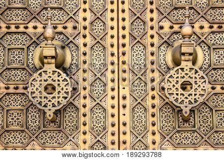 Golden Decorative  Door In Morocco