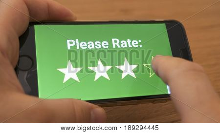Rating In Mobile App Concept
