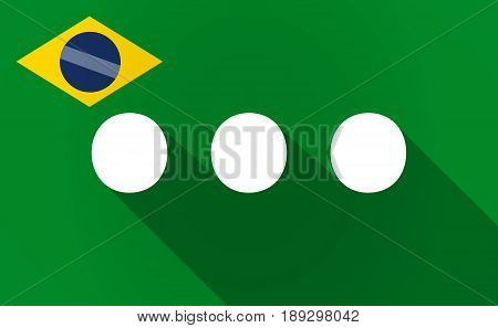 Long Shadow Brazil Map With  An Ellipsis Orthographic Sign