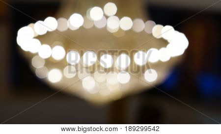 Bokeh. Out of focus lighting, blur and abstract background