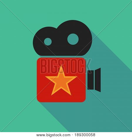 Long Shadow Camera With  The Red Star Of Communism Icon
