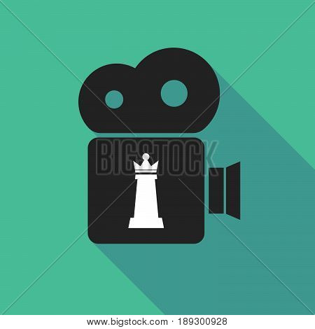 Long Shadow Camera With A  Queen   Chess Figure