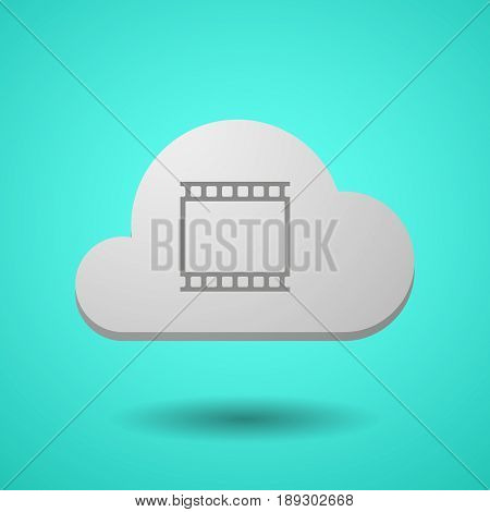 Vectorial Cloud With   A Photographic 35Mm Film Strip