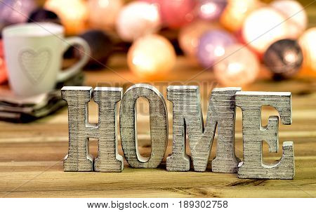 For home decorating inside; letters of
