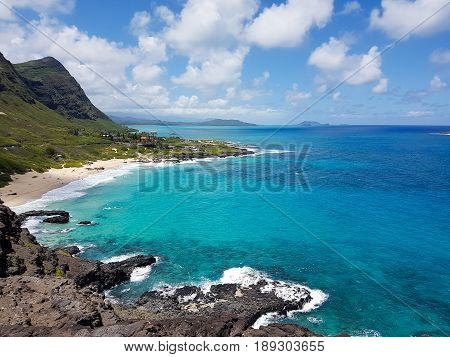 Scenic View of Coast at Makapu'u Point Lookout