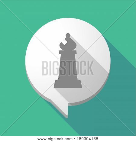 Long Shadow Comic Balloon With A Bishop    Chess Figure