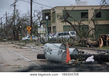 Typhoon damage, Saipan Typhoon Soudelor left roads impassable for hours and power posts damaged after it hit Saipan.