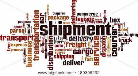 Shipment word cloud concept. Vector illustration on white