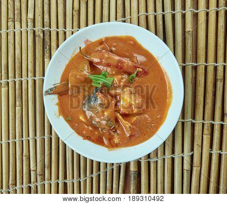 Hubby's Chala - Sardine Fish Curry. Southern India