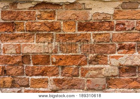Distressed Wall With Broken Bricks Texture, Chipped Stonewall Surface