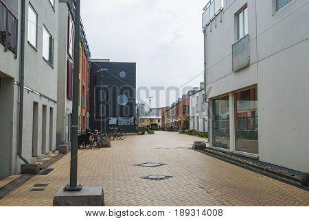 New housing area in Vastra Hamnen Malmo Sweden