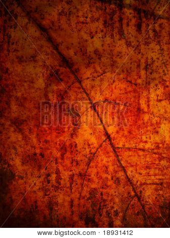 Grunge leaf background