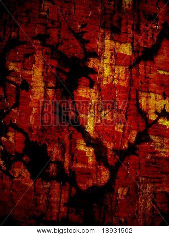 old brown background with black crack