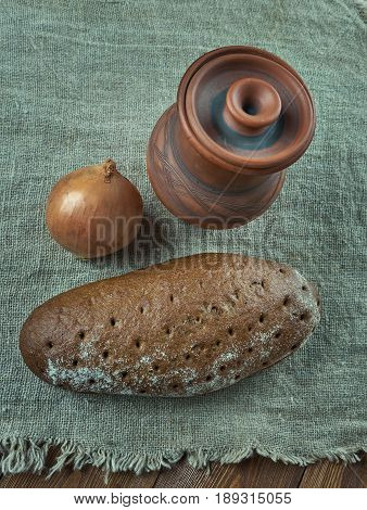 Latvian traditional bread with cumin. Latvian cuisine