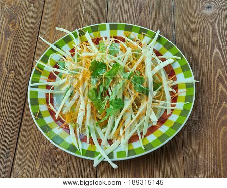 Coleslaw With Carrots And Lettuces