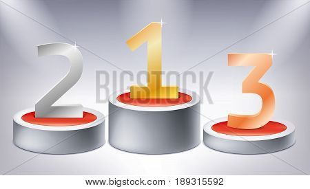 red, 1, 2, 3, one, two, three, 3d, air, amazing, award, background, best, business, celebration, competition, concept, creative, cylinder, decoration, design, element, geometry, gold, gradient, graphic, gray, illuminated, illustration, lights, luxury, mes