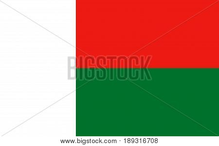 Flag of Madagascar Official symbol of the country