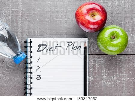 Diet sport mockup in design stock photo