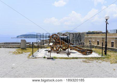 Old Byzantine fortress in Kerkyra, Corfu island in Greece.