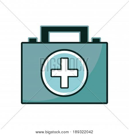 briefcase and first aid kit urgency vector illustration
