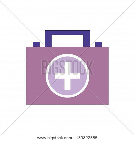 briefcase and first aid kit urgency, vector illustration
