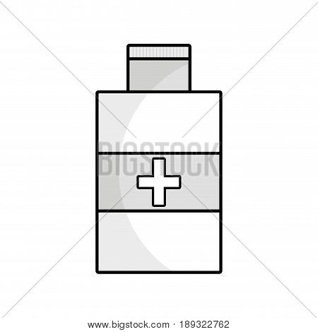contour alcohol isopropelico to disinfect wounds of the body vector illustration