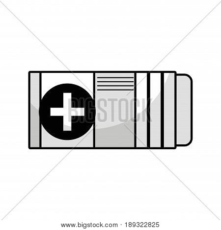 contour medicine box to pacient treatment and body care vector illustration