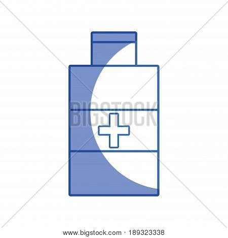 silhouette alcohol isopropelico to disinfect wounds of the body vector illustration
