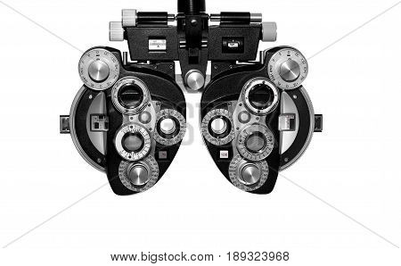 Phoropter ophthalmic testing equipment used in ophthalmology