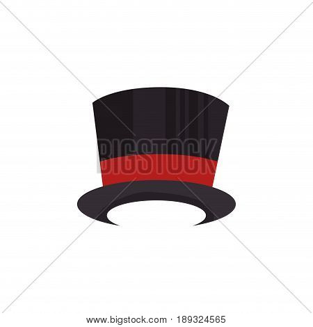 top hat icon over white background. vector illustration