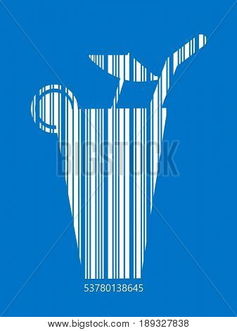 Cocktail in bar code