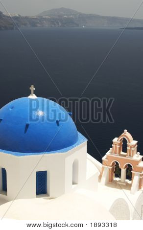 Greek Church And Bell Tower