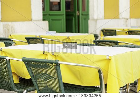 Terrace Of A Bar On The Street