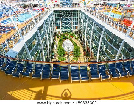 Barcelona, Spain - September 06, 2015: Royal Caribbean, Allure Of The Seas