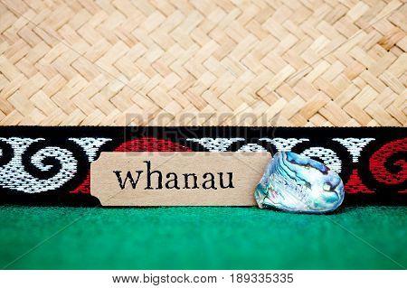 New Zealand - Maori theme - whanau (maori for family)