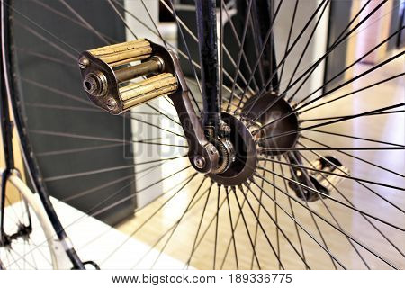 An Image of bike spokes - bicycle