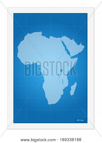 Africa Map On Blueprint