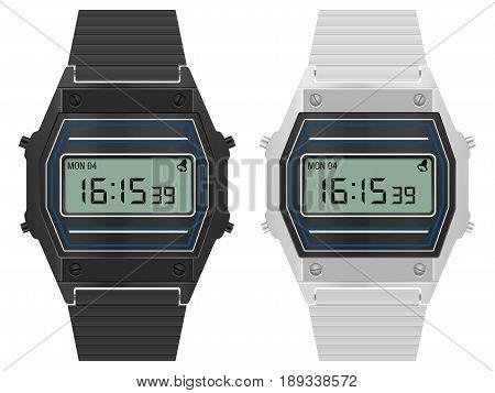 Retro Digital Watch Set
