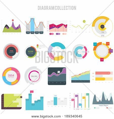 Diagram Collection | set of vector diagram illustration use for presentation, business, marketing and much more.The set can be used for several purposes like: websites, print templates, presentation templates, and promotional materials.