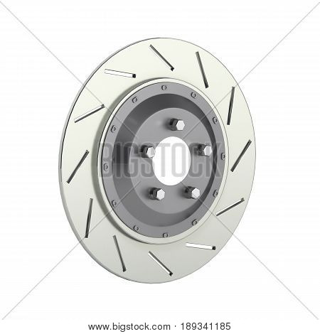 Brake Disk Isolated On White Background 3D
